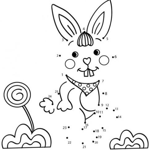 Tranh nối 'Thỏ cười nhe răng'