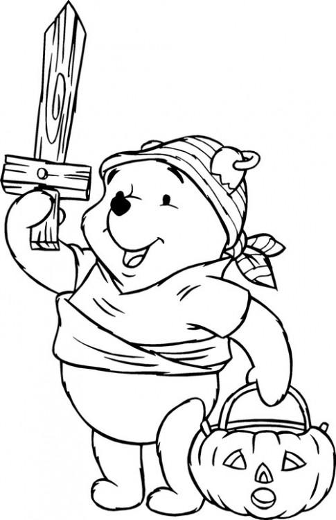 Tranh tô màu 'Gấu Pooh'