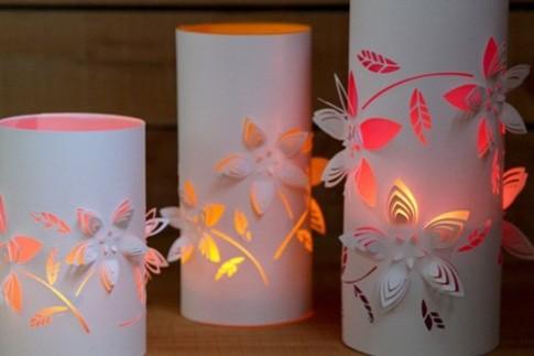 Trung thu lung linh với đèn giấy Kirigami ấn tượng