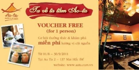 Voucher miễn phí tại nhà hàng Ao Ta
