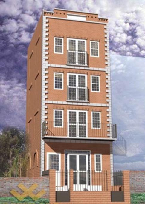 Xây nhà 4 tầng trên diện tích 5,5 m x 16,8 m