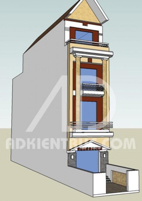 Xây nhà lô trên mảnh đất 3,9 x 24,2 m