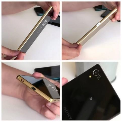 """Xperia Z5 Premium bị tung clip và ảnh nóng với màn hình 5,5"""" độ phân giải 4K."""