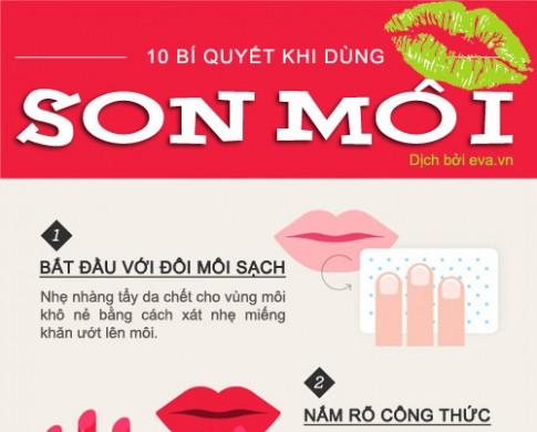 10 mẹo hay khi dùng son môi