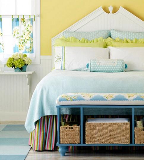 8 tuyệt chiêu cho phòng ngủ gọn gàng