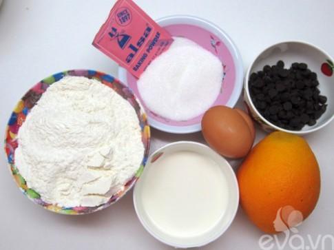 Bánh Muffin cam và sô cô la thơm ngon
