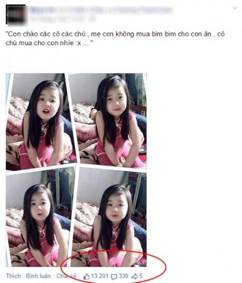 Bé gái Thái Nguyên xinh đẹp hút 13 nghìn likes