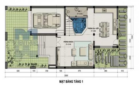 Biệt thự nhà vườn 150 m2 với không gian xanh mát