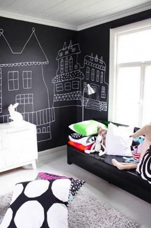 Bức tường sáng tạo cho bé tha hồ vẽ