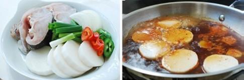 Cá kho củ cải kiểu Hàn cực ngon