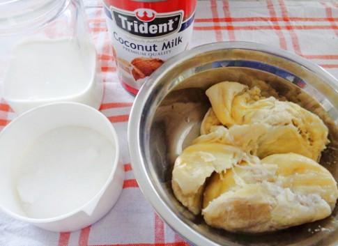 Cách làm kem sầu riêng không cần máy