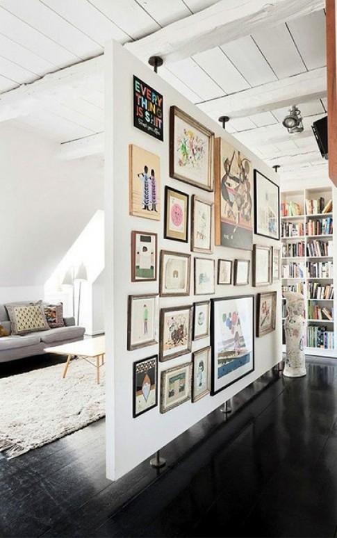 Cách treo nhiều tranh lên tường