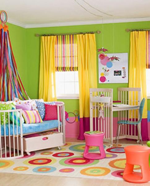Cảm hứng màu sắc cho phòng bé gái