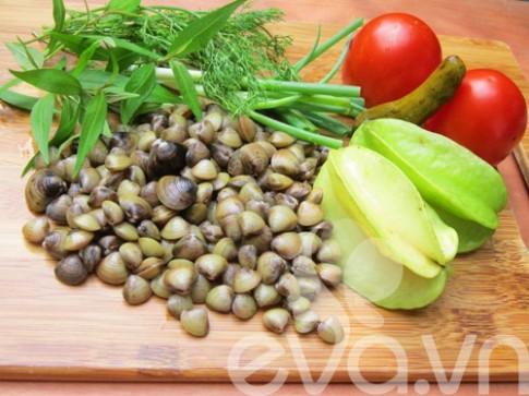 Canh hến nấu khế: Nhìn là muốn ăn