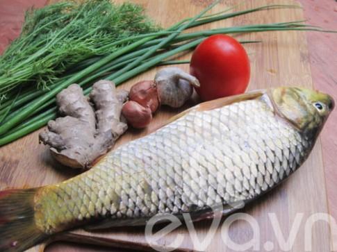 Canh riêu cá chép chua ngon
