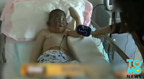 Cậu bé 6 tuổi lao vào nhà cháy để cứu ông nội