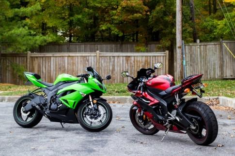 [Clip] Màn so kè tốc độ giữa Yamaha R6 và Kawasaki Ninja ZX-6R