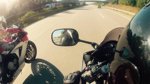 [Clip] Màn so tài tốc độ kịch tính giữa Yamaha R6 và MV Agusta F3