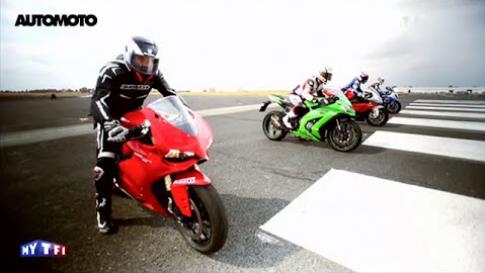 [Clip] Màn test tốc độ giữa 4 mẫu superbike đình đám nhất thế giới