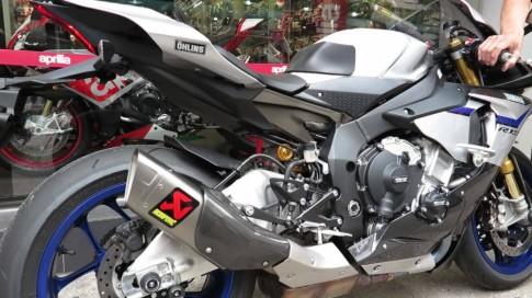 [Clip] Test pô Akrapovic đầy tê tái trên Yamaha R1M
