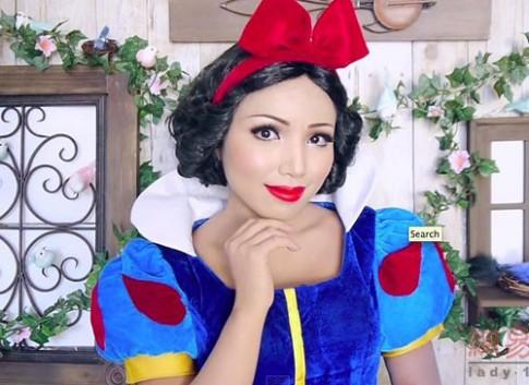 Cô gái có biệt tài hóa trang thành công chúa Disney