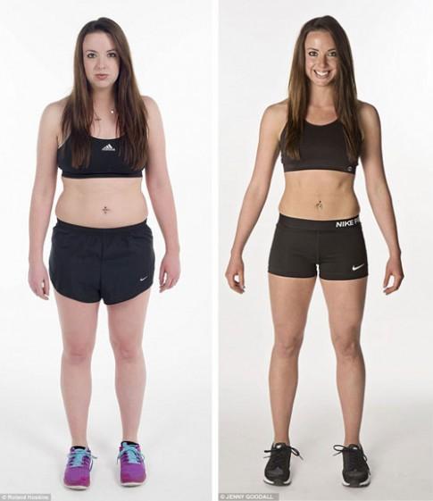 Cô gái giảm cân nhanh để mặc bikini