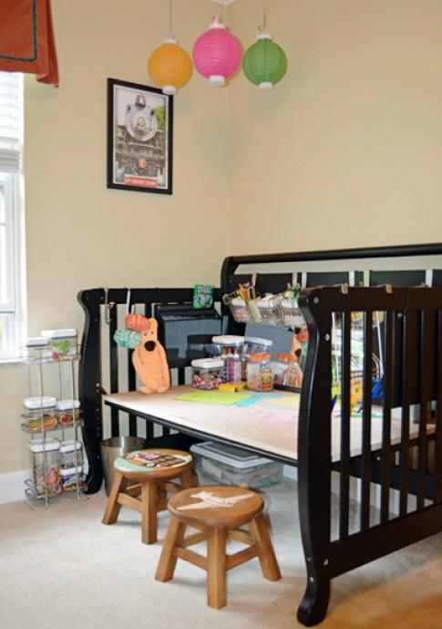 Cũi trẻ em bỏ đi thành đồ hữu ích trong nhà
