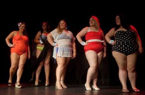 Cuộc thi hoa hậu hội tụ các nàng 'siêu' béo