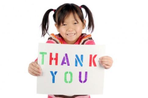 Dạy trẻ 'Cảm ơn' - một 'nghệ thuật' khó