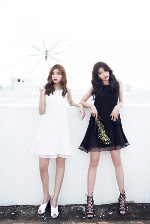 Đẹp trong veo như cặp đôi diện đồ đen - trắng