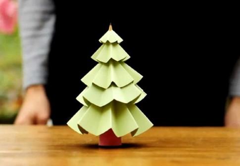 Đón Giáng sinh bằng cây thông giấy