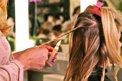 Đốt tóc để chữa tóc chẻ ngọn