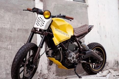 Ducati Scrambler do doc dao voi phong cach Tracker tran trui