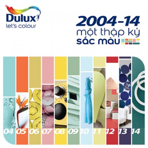 Dulux kỷ niệm 'một thập kỷ sắc màu'