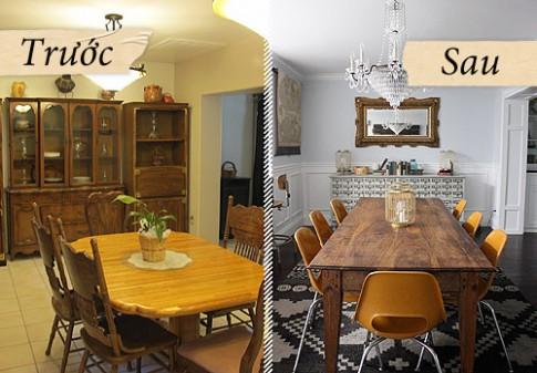 F5 phòng ăn cũ kỹ đẹp 'miễn chê'