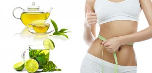 Giảm béo bụng nhanh bằng trà xanh và chanh