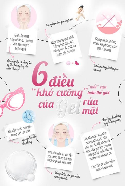 """Infographic: 6 bí mật của gel rửa mặt """"thần thánh"""""""