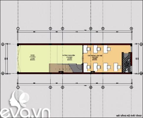 Khéo xây nhà 82m2 đủ ở kiêm văn phòng