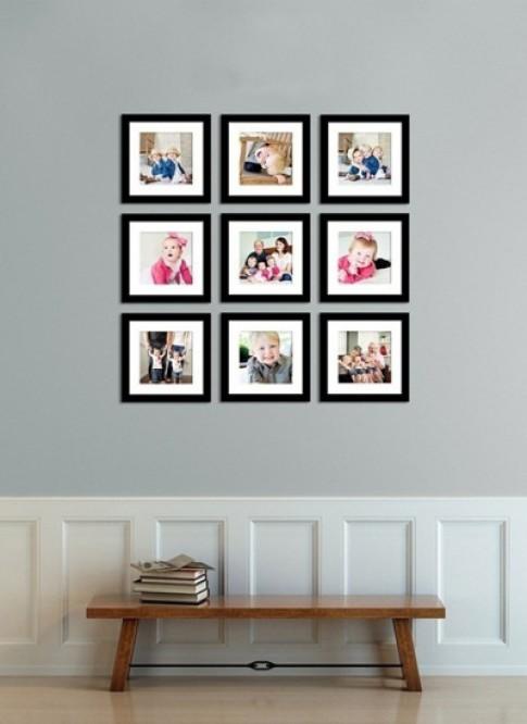 Làm đẹp và gọn nhà với 5 kiểu xếp khung ảnh