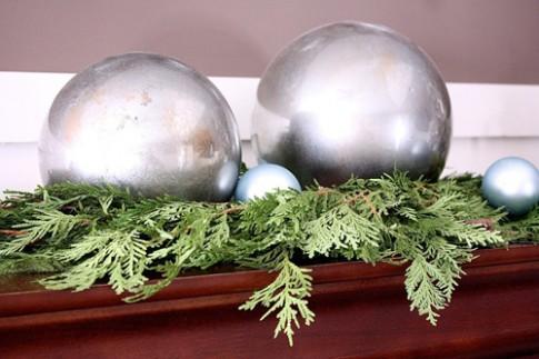 Làm quả cầu thủy tinh trang trí Noel