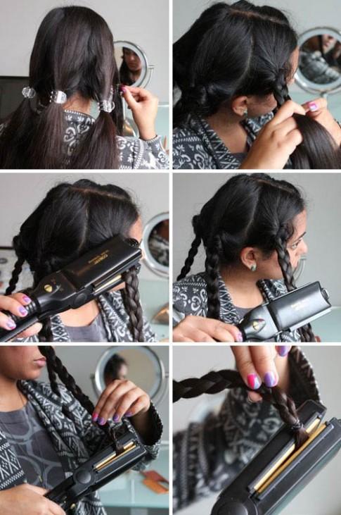 Làm tóc xoăn gợn chỉ trong 3 phút