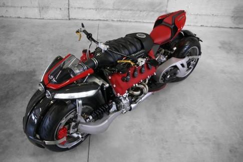 Lazareth LM847 mẫu sportbike 4 bánh sử dụng động cơ V8 từ siêu xe Maserati Quattroporte