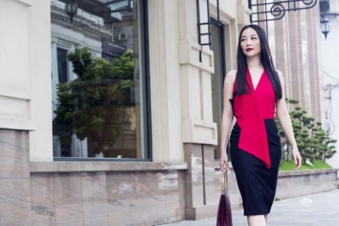 Linh Nga mặc đẹp sang chảnh xuống phố