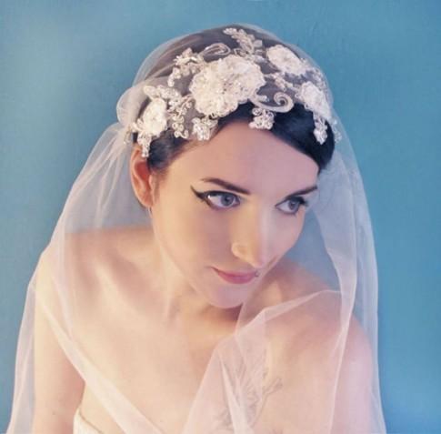 """Mạng che mặt cho cô dâu đẹp đến """"xiêu lòng"""""""