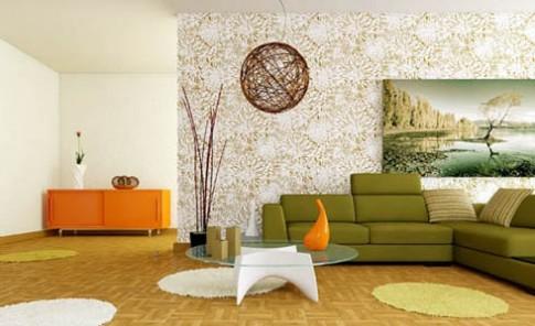 Mang màu sắc thiên nhiên vào phòng khách mùa hè