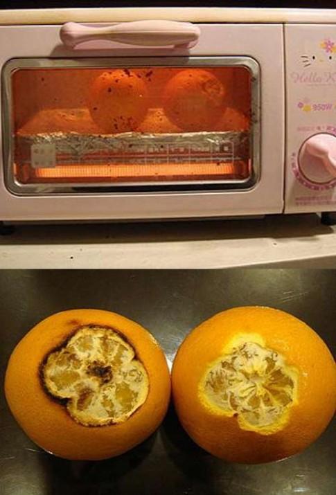 Mẹ Nhật trị ho cho con bằng cam nướng