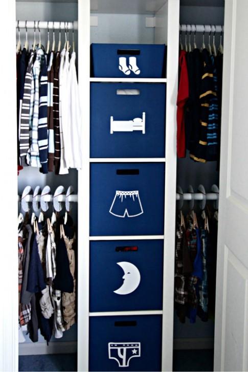 Mẹ 'ra chiêu' thiết kế tủ đồ cho con yêu