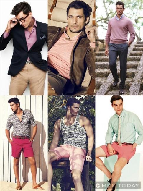 Mix đồ nam đa phong cách với trang phục mang sắc hồng