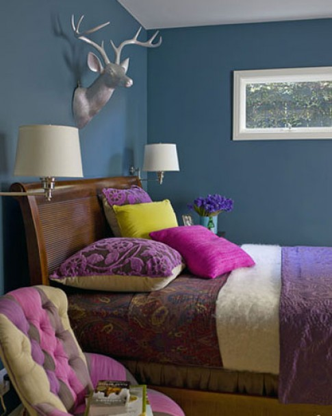 Ngắm phòng ngủ rực rỡ sắc màu