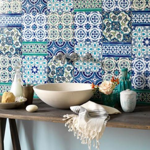 Nghệ thuật 'hòa màu' cho phòng tắm